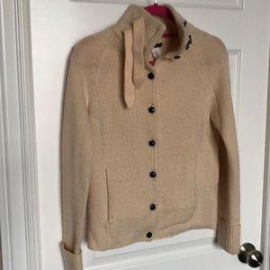 J crew wool cream sweater